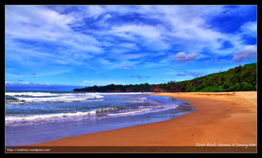 Ciantir beach, Sawarna, Banten
