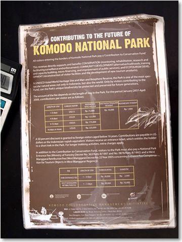 Poster TN Komodo (c) Endro Catur