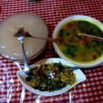 Papeda, Ikan Kuah Kuning dan Tumis Bunga Pepaya